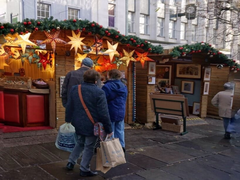 """You will find lots of different gift ideas at the York Christmas Market. - """"St. Nicholas Fair York Christmas Market Guide"""" - Two Traveling Texans"""