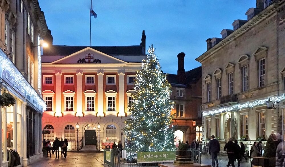 """I found a few beautiful Christmas trees in York. - """"St. Nicholas Fair York Christmas Market Guide"""" - Two Traveling Texans"""