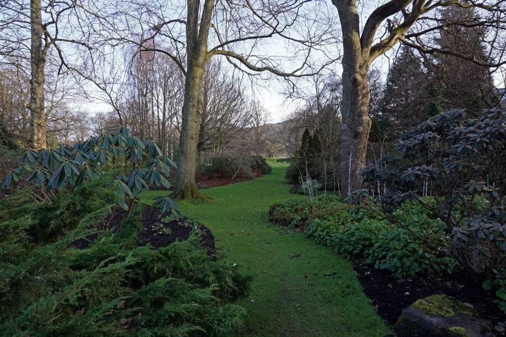 The Palace Gardens were so green, even in January.-