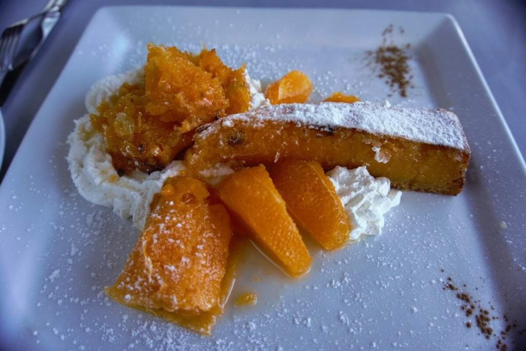 Sintra's orange dessert was a nice treat at the end of our day sightseeing. -