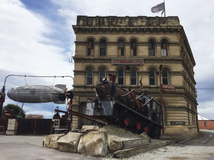 Steampunk HQ! Never seen something like that before