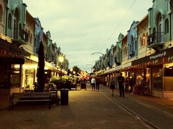 New Regent Street with cafés, bars and restaurants