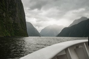 Amazing light at Milford Sound