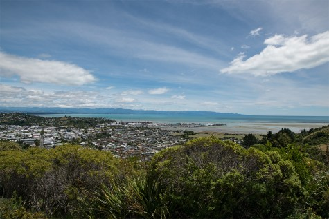 View over Nelson and the Tasman Bay