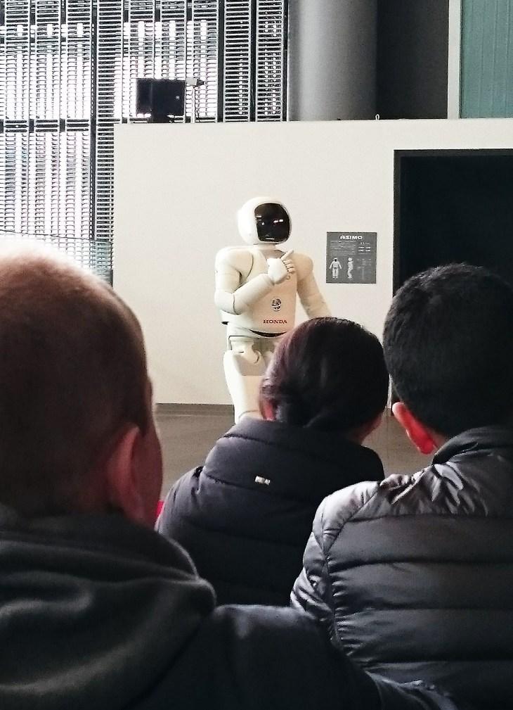 watching ASIMO perform