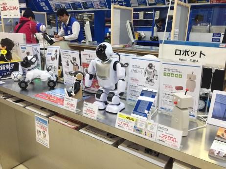 you can buy robots at BIC Camera
