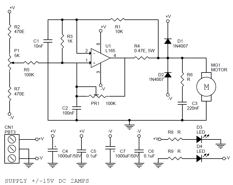Bi-Directional DC Motor Speed And Direction Controller