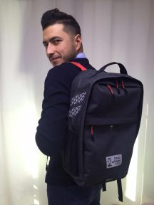 Anton Wearing Two Wheel Gear Backpack