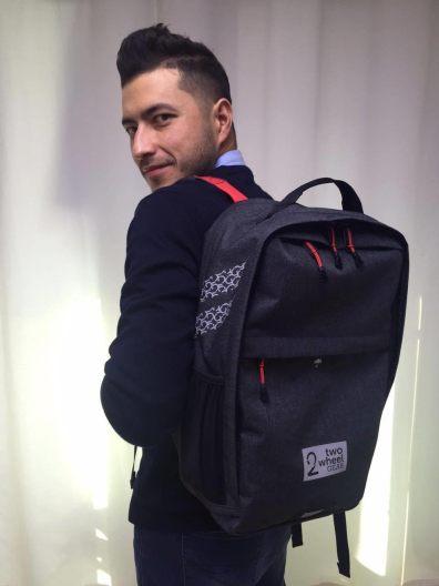 Anton Wearing Two Wheel Gear Backpack