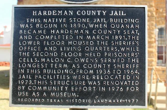 Hardeman County Jail Museum landmark.