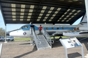 Visiting the Texas White House - Stonewall, TX - LBJ's private jet - Two Worlds Treasures
