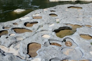 Two Worlds Treasures: Potholes at Pedernales State Park.