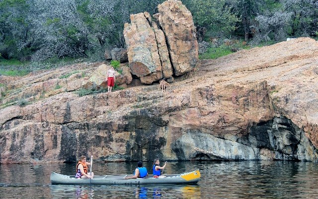 Devil's Hole at Inks Lake State Park - Texas Hill Country - Two Worlds Treasures
