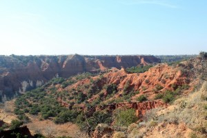 A scenic canyon view along Holmes Creek Canyon at Caprock Canyons SP, TX.