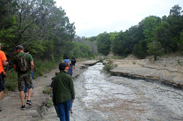 The clearing on our hiking at Cleburne State Park, Texas.