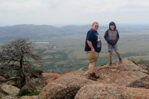 Wichita Mountains Wildlife Refuge: at the summit of Mt. Scott.