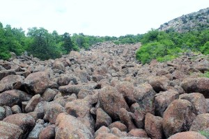 "Wichita Mountains Wildlife Refuge: ""River of Boulders"" at Mt. Scott."