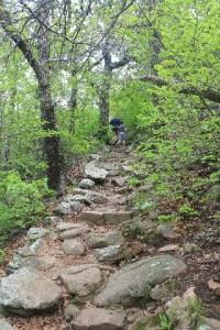 Wichita Mountains Wildlife Refuge: hiking on Elk Mountain Trail.
