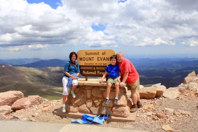 Colorado One Week Unplanned Trip: at the top of Mt. Evans.