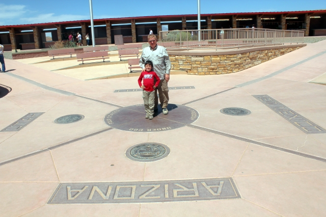 The boys at Four Corners Monument.
