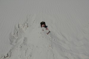Burried in White Sands National Monument