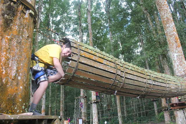 Visiting Bali with a 10-year-old boy: Bali TreeTop: Fox's Hole