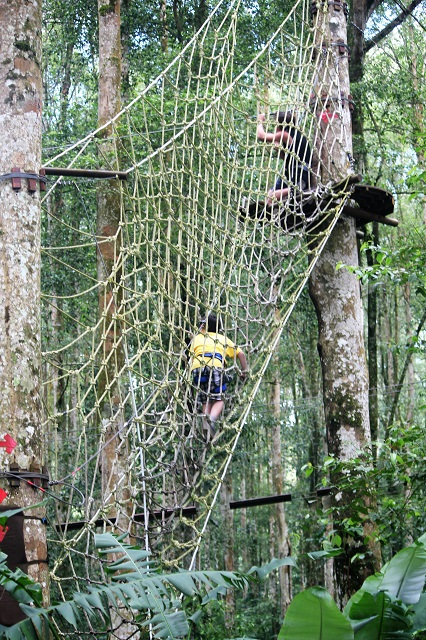 Visiting Bali with a 10-year-old boy: Bali TreeTop: spider net