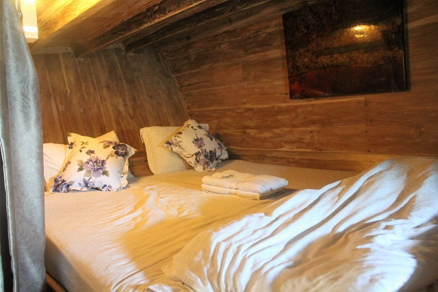 Two Worlds Treasures - one of the bedroom at the lower deck of Kajoma IV.