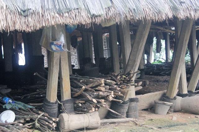 Two Worlds Treasures - under the house at Wae Rebo Village, Wae Rebo, East Nusa Tenggara, Indonesia.