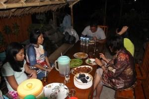 Two Worlds Treasures - simple dinner at Waerebo Lodge, Dintor Village.