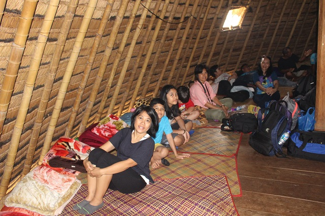 Two Worlds Treasures - inside the traditional house, Wae Rebo, East Nusa Tenggara, Indonesia.