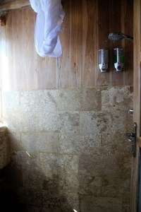 Island Hopping Flores, Indonesia - Day 1 - shower in our bedroom - Two Worlds Treasures