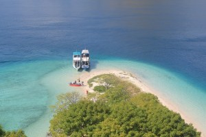 Island Hopping Flores, Indonesia - Day 1 - Kelor Island from top - Two Worlds Treasures