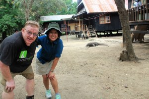 Island Hopping Flores, Indonesia - Day 1 - Rinca island, us with Komodo dragons - Two Worlds Treasures