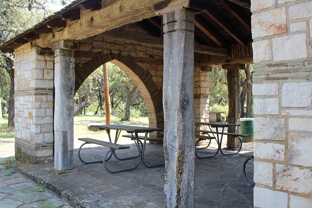 Longhorn Cavern - picnic area - Burnet, TX - Two Worlds Treasures