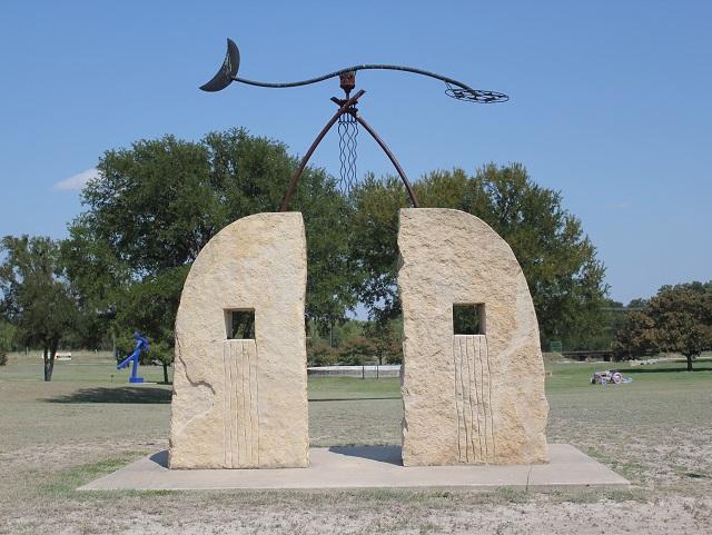 Hanna Springs Sculpture Garden - Lampasas TX - Portal To The Springs - Two Worlds Treasures