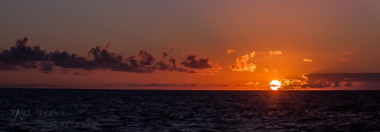 Sunset at Sea on St Helena Island