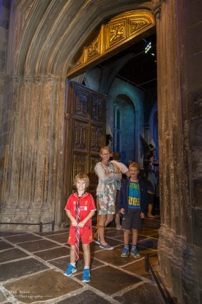 Entering the great hall.