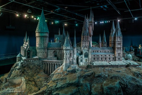 The actual Hogwarts used in wide angle shots. This is breathtaking. It's a fantastic model in the photograph but when you see it in front of you it really is something special. Look at the people stood around to the right hand side get an idea of the scale of this.
