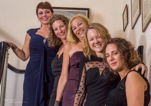 Govenor Lisa Phillips enjoying the night with the girls.