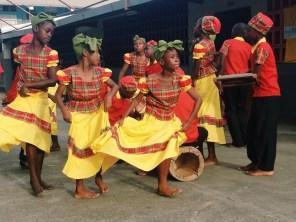 Kumina dancers from Arcadia Primary school