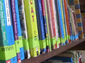 Neatly labeled shelves!