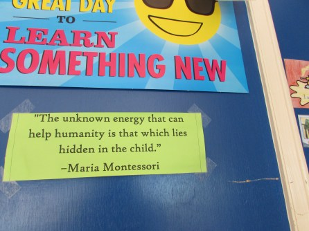 Her classroom is covered in thought-provoking reminders