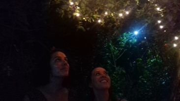 At Jus Natural restaurant's magical garden in Negril