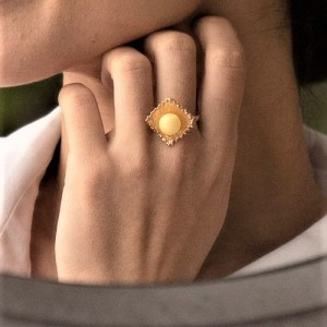 Кольцо с янтарем Жемчужина Балтики