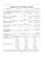 Application for Township Assistance