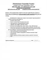 Charlestown Township Trustee Applicant Checklist