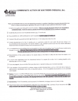 Community Action of Southern Indiana General Program Checklist
