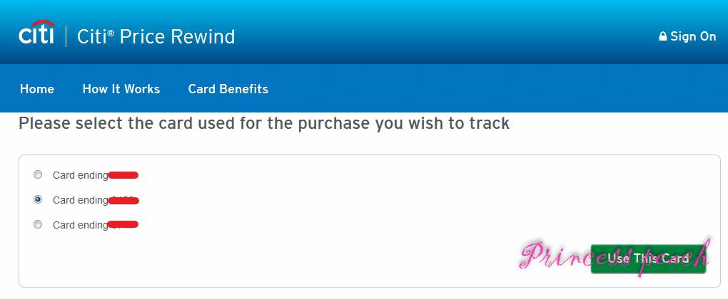 Citi 自動追蹤價格
