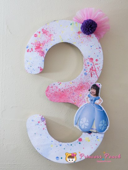 Blueberry Birthday Party Wall Decoration
